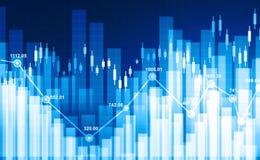 Gráfico financiero del mercado de acción Foto de archivo libre de regalías