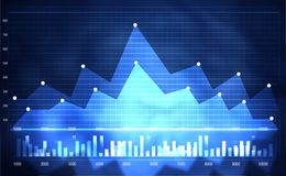 Gráfico financiero del mercado de acción Fotos de archivo libres de regalías
