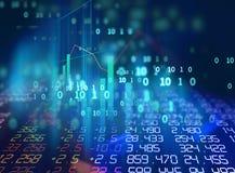 Gráfico financiero técnico en fondo del extracto de la tecnología Imagen de archivo libre de regalías