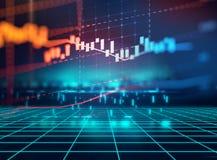 Gráfico financiero técnico en fondo del extracto de la tecnología Fotos de archivo libres de regalías
