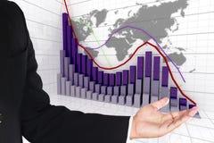 Gráfico financiero y de negocio Fotografía de archivo libre de regalías