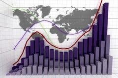 Gráfico financiero y de negocio ilustración del vector