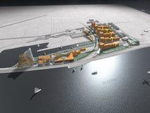 Gráfico futurista da cidade de beira-mar Fotos de Stock Royalty Free