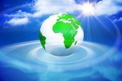 Gráfico gerado Digital da terra verde Fotografia de Stock