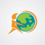 Gráfico global do cuidado Imagens de Stock Royalty Free
