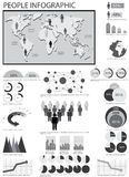 Gráfico humano del Info libre illustration