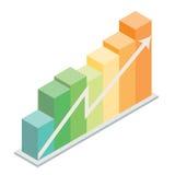 Gráfico isométrico da coluna Imagem de Stock Royalty Free