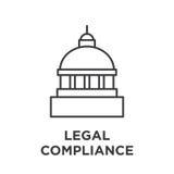 Gráfico legal de la conformidad con el edificio del capitol libre illustration