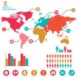 Gráfico médico da informação ilustração do vetor