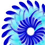 Gráfico maluco atrativo Ilustração do vetor Flor azul ilustração royalty free