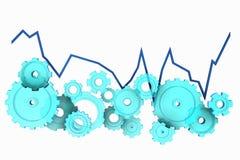 Gráfico mecânico azul Imagem de Stock Royalty Free