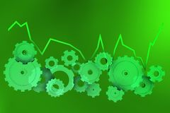Gráfico mecânico positivo no amarelo Imagens de Stock Royalty Free