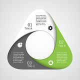 Gráfico moderno da informação de vetor para o projeto do negócio Fotografia de Stock