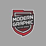 Gráfico moderno de la insignia imagen de archivo