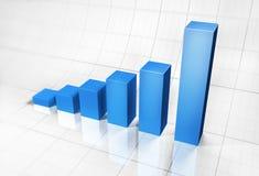 Gráfico no fundo da grade Fotografia de Stock Royalty Free