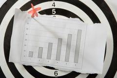 Gráfico no Livro Branco Imagens de Stock