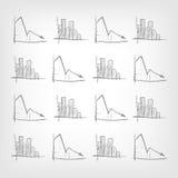 Gráfico para baixo ilustração stock