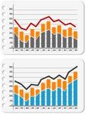 Gráfico para cima e para baixo ilustração do vetor