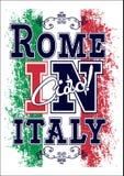 Gráfico para la camiseta, impresión del vector de Italia Foto de archivo libre de regalías