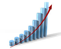 Gráfico para o futuro Foto de Stock