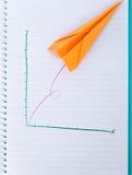 Gráfico plano de papel acima Imagens de Stock