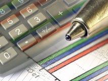 Gráfico, pluma y teclado, collage foto de archivo libre de regalías