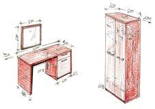 Gráfico a pulso moderno del diseño interior. Imagenes de archivo