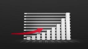 Gráfico que crece con la flecha libre illustration