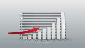 Gráfico que crece con la flecha stock de ilustración