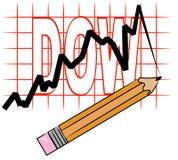 Gráfico que mostra o dow ilustração royalty free