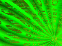 Gráfico que representa flujo de datos binarios Imagen de archivo libre de regalías