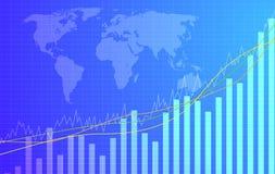 Gráfico que vai acima Imagens de Stock