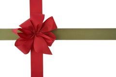 Gráfico rojo del rectángulo de regalo de la cinta Foto de archivo libre de regalías
