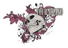 Gráfico rosado del cráneo Foto de archivo libre de regalías