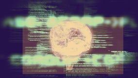 Gráfico rotatorio del cerebro con la animación del interfaz