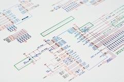Gráfico técnico fotos de archivo libres de regalías