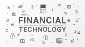Gráfico tecnologia e da informação financeiras do investimento empresarial ilustração stock