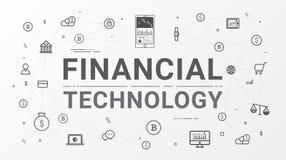 Gráfico tecnologia e da informação financeiras do investimento empresarial ilustração royalty free