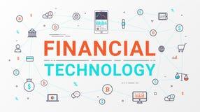 Gráfico tecnologia e da informação financeiras do investimento empresarial ilustração do vetor
