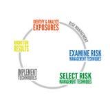 Gráfico de la gestión de riesgos Fotografía de archivo libre de regalías