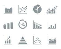 Gráfico un icono ilustración del vector