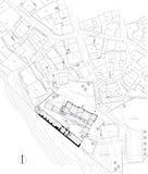 Gráfico urbano del plan Imágenes de archivo libres de regalías
