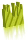 Gráfico verde Imagen de archivo libre de regalías