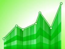 Gráfico verde Foto de archivo
