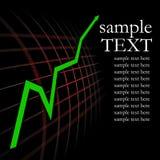 Gráfico verde da seta Fotografia de Stock Royalty Free