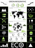 Gráfico verde de la información Fotografía de archivo libre de regalías