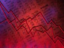 Gráfico vermelho do mercado Fotografia de Stock