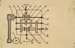 Gráfico viejo Imágenes de archivo libres de regalías