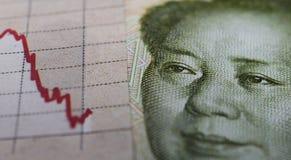 Gráfico y billete de banco del mercado de acción Fotos de archivo