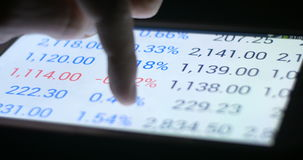 Gráfico y carta de la inversión de las finanzas de comercio del mercado de acción almacen de video